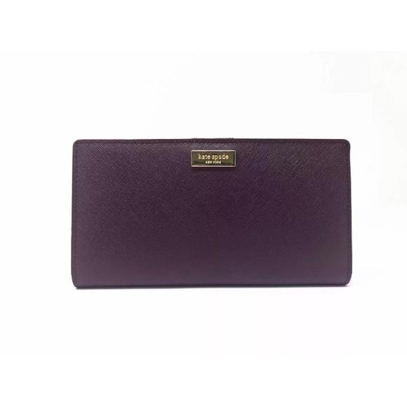 3d6c8d4f9566 Kate Spade Stacy Laurel Way New Wallet Mahogany